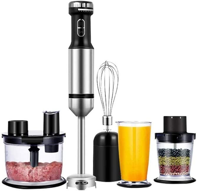 Z-COLOR Hand Immersion Blender, Food Processor, 800 W Powerful 4-In-1 Hand Blender Stick [Energy Class A]