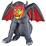 Gemmy Airblown LED Lighting Projection Fire and Ice Gruesome Gargoyle Inflatable, Made of Durable Metal, Plastic, and Polyester, UL Listed for Safety,