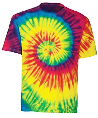 Swirl Tie Dye Shirt (Tie Dye Mania Adult Classic Retro Swirl Tie-Dye Short Sleeve T-Shirt - Large)