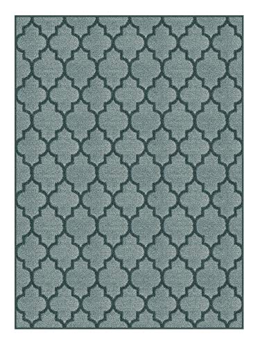 3'x9' - Oceanic, Milliken Carpet - Cavetto II Pattern | Designers Dream Collection in Made-to-Order Custom Sized Area Rugs & Runners, Stainmaster Nylon