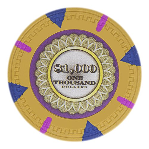 UPC 796520347724, Claysmith Gaming The Mint Poker Chip Heavyweight 13.5-gram Clay Composite – Pack of 50 ($1000 Yellow)