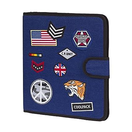 Archivador Tela Badges Coolpack (Azul Marino)