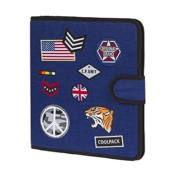 Archivador Tela Badges Coolpack (Azul Marino): Amazon.es: Oficina y papelería