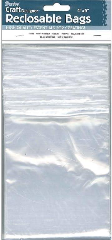 Darice Reclosable Bags 100/Pkg-2