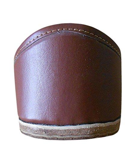 Kalra Creations - Zapatillas de estar por casa de piel sintética para hombre marrón