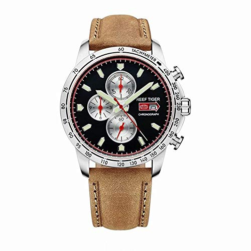 - LiBetyd RT Sport Watch for Men Chronograph Quartz Watch with Italian Calfskin Leather and Super Luminous Watch-RGA3029YBS