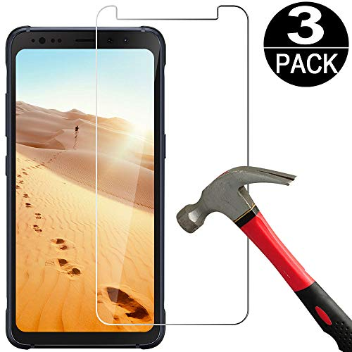 Coolpow [3-Pack] Samsung Galaxy S8 Active (Not Fit for Galaxy S8/S8 Plus) Screen Protector Tempered Glass [Anti Scratch][Bubble Free] Tempered Glass Screen Protector Film for Galaxy S8 Active