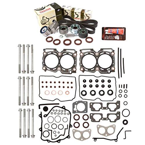 Evergreen HSHBTBK9009-2 Head Gasket Set Head Bolts Timing Belt Kit Fits 00-03 Subaru 2.5 SOHC EJ251 EJ252 ()