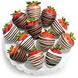 Chocolate Covered Strawberries, 12 Dark/Milk/White