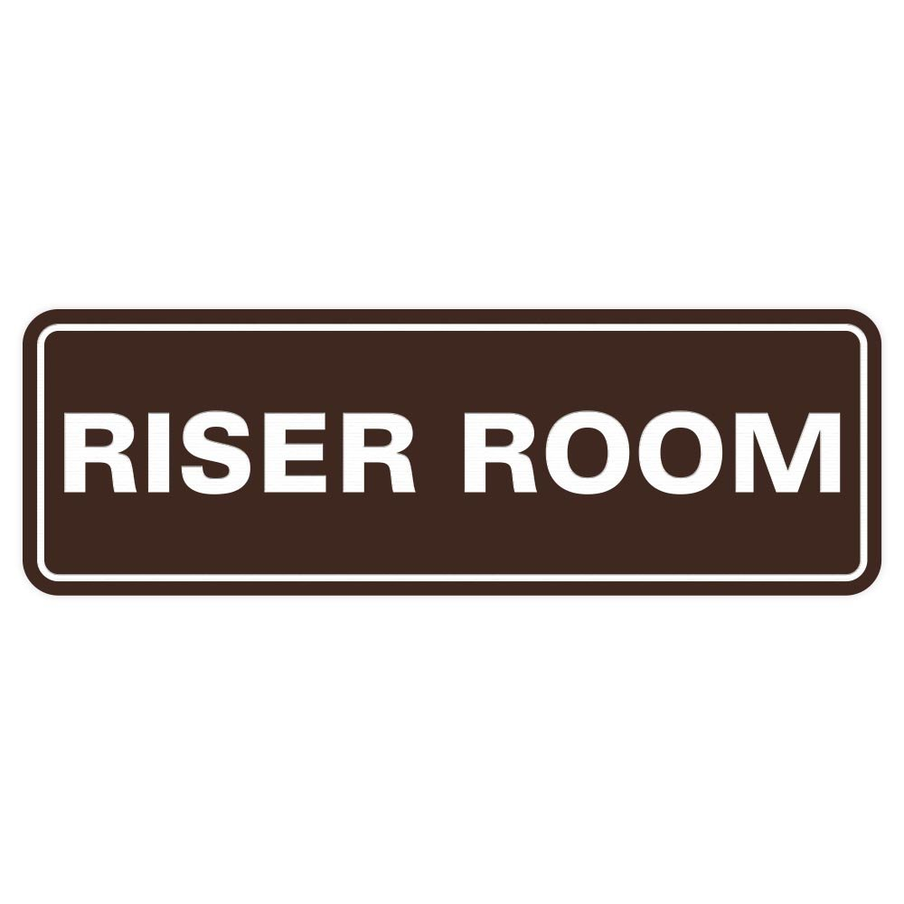 Riser Room Door//Wall Sign Red Small