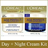 L'Oreal Paris, Skin Expertise Age Perfect Day + Night Hydrating Moisturizer Cream for Mature Skin SPF 15, 2 x 2.5-Oz. For Sale