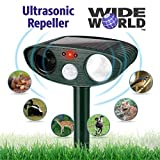 Ultrasonic Pest Repeller by Wide World - Solar Powered Waterproof...