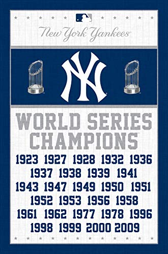 (Trends International New York Yankees-Champions Mount Bundle Wall Poster 22.375
