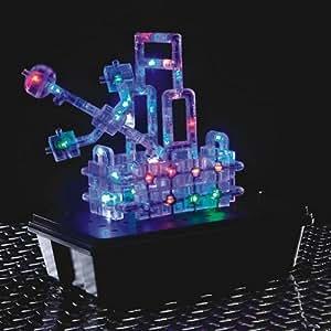 Light Up Building Construction Set - Laser Pegs - 3-D Light Board Deluxe Building Set (115 Lighted pieces plus Light Board)