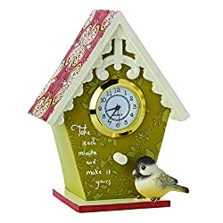 Precious Moments, Decorative Birdhouse With Clock , Resin Figurine, 154454