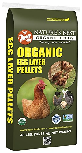Natures Best Organic Feed 061002 Organic Egg Layer Pellets for Chickens, 40 lb