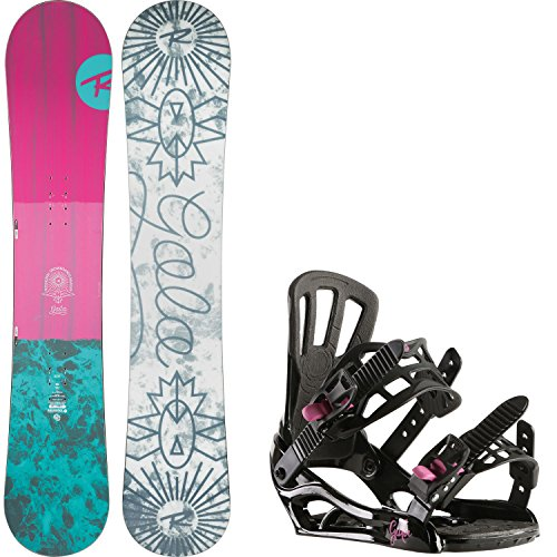 Rossignol Gala 150cm Womens Snowboard + Rossignol Gala Bindings - Fits US Wms Boots Sized: 5,6,7,8 (Packages Rossignol Snowboard)