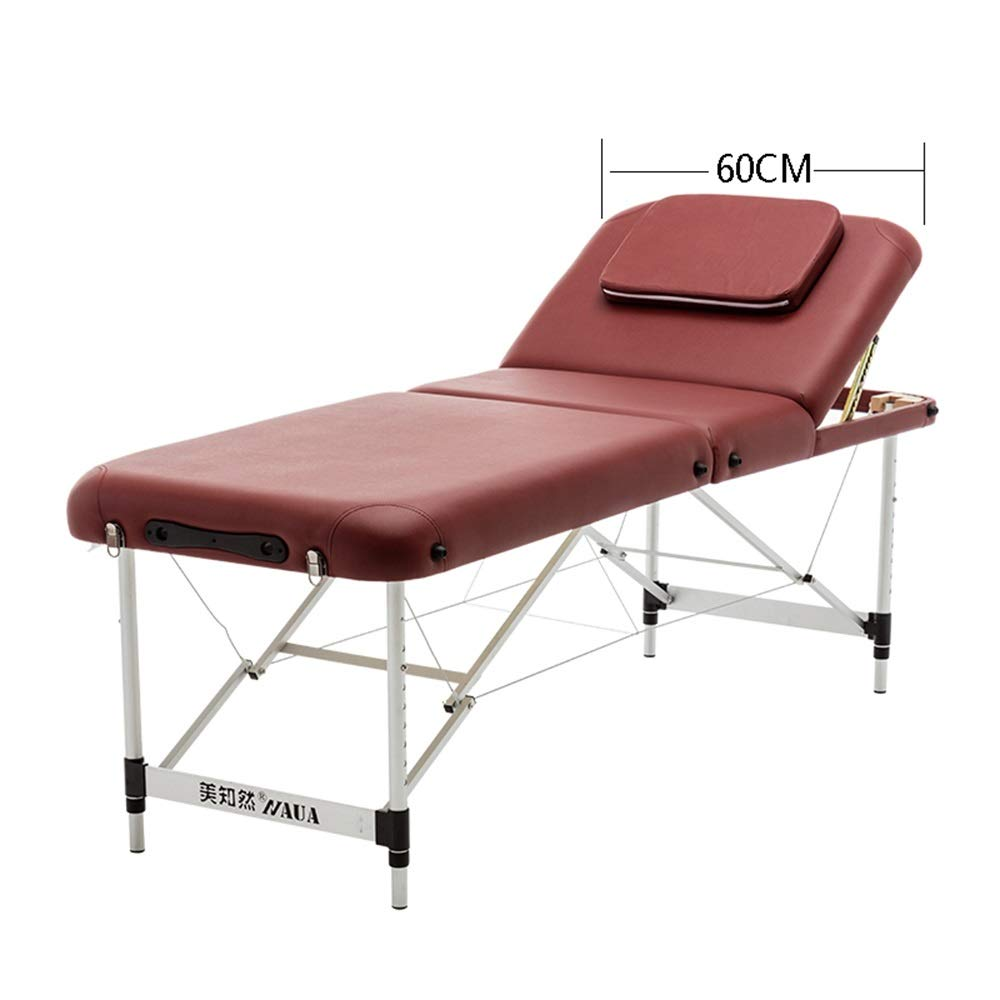 JIAYUAN Folding Massage Table, Adjustable Height and Angle Massage Bed Portable Spa Bed Folding Facial Bed Lash Bed Tattoo Table with Headrest Armrest, in 2 Colors by JIAYUAN