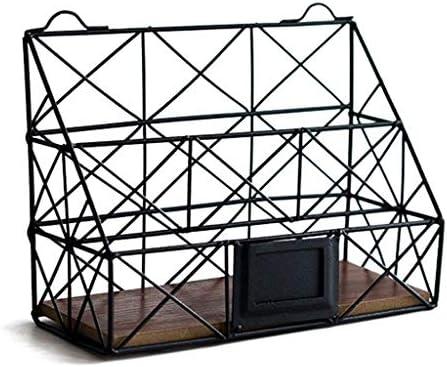 BZM-ZM 、データバスケットマガジンの表示には、Officeフォルダのストレージラックスタンドブラック仕上げAufbewahrungsbox鍛鉄ファイルのフレーム