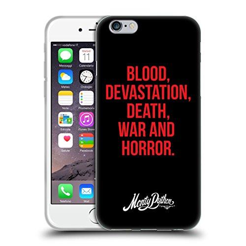Officiel Monty Python Guerre De Mort De Dévastation De Sang Et Horreur Art Clé Étui Coque en Gel molle pour Apple iPhone 6 / 6s