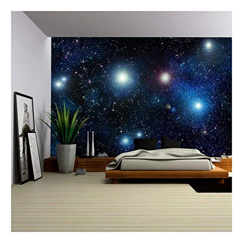 wall26 Stars in Space or Night Sky - Removable Wall Mural | Self-Adhesive Large Wallpaper - 100x144 inches