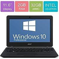 Acer 11.6 HD LED Backlight (1366x768) Display Laptop PC, Intel Dual Core Celeron N3050 up to 2.16GHz, 2GB RAM, 32GB SSD, Bluetooth, WIFI, HDMI, USB 3.0, Windows 10 Professional