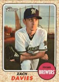 2017 Topps Heritage High Numbers #524 Zach Davies Milwaukee Brewers Baseball Card