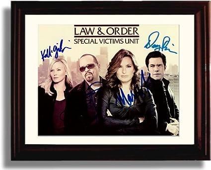Framed Law and Order Autograph Replica Print Mariska Hargitay 8x10 Print 8x10 Print