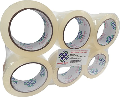 36 Rolls Real Thick (3.1 Mil) Double Bond Commercial Grade Heavy Duty Packing Tape, 1.88-Inch Width x 54.6 Yards