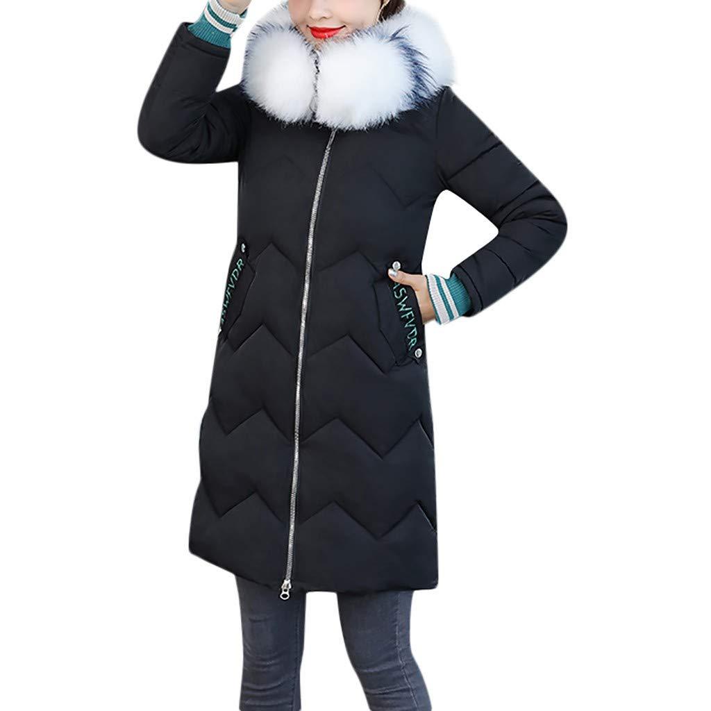aihihe Womens Down Jacket Long Puffer Down Zipper Parka Jackets Winter Warmest Coats Overcoat with Faux Fur Collar by aihihe women's Tops