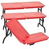 Set of 3 Red Break Away Tables for WWE Wrestling Action Figures