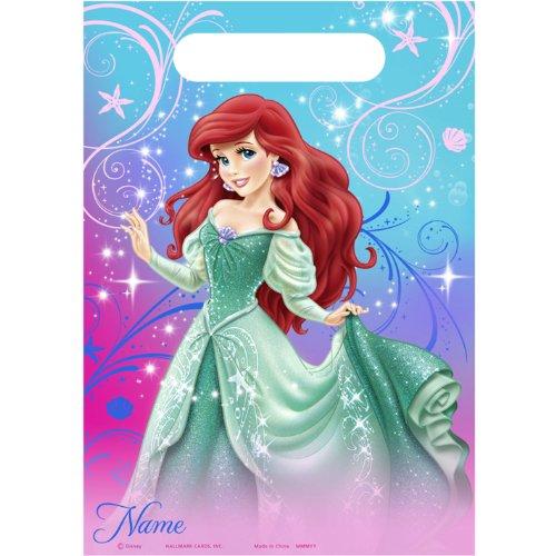 Disney The Little Mermaid Sparkle Treat Bags (8) (Little Mermaid Gift Bags)