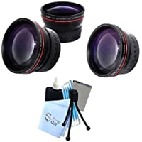 Vivitar Series 1 RedLine Bundle HD 2.2X Telephoto Lens & HD 0.43X Wide Angle Lens w/ Complete Cleaning Kit for Canon S2 S3 S5 Cameras