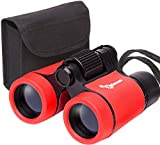 Toy Binoculars for Kids and Toddlers | Christmas or Birthday STEM Gift for Baby Boys Girls and Twins | Great for Party Pretend Play Outdoors and Travel Trips | Best for 3 to 6 yr | Small and Compact
