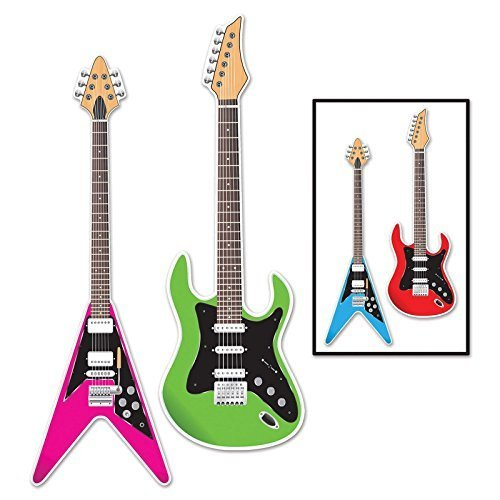 Beistle Guitar Cutouts, 3-Feet (Guitar Cutouts)