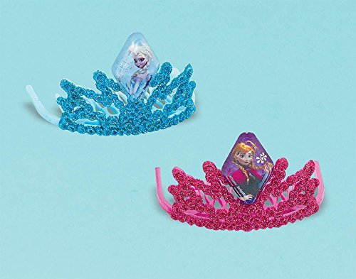"Disney Frozen Tiara Birthday Party Costume Head Accessory Favour (1 Piece), Teal/Red Violet, 3""H x 3""W x 2""D."