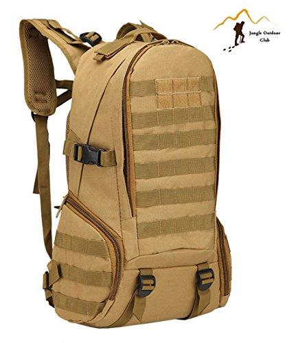 Jungle Oxford New professionale zaino 40l 3D Outdoor viaggio zaino molle Big Bag borse camouflage Tactical tasche Wild borsa zaino da escursionismo arrampicata zaino, kaki