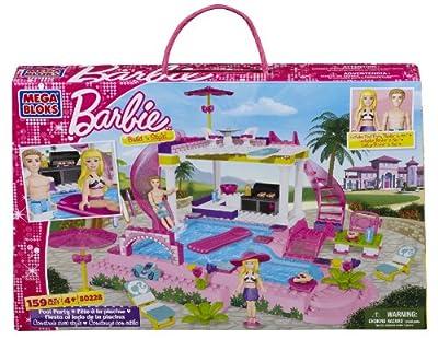 Mega Bloks - Barbie - Build 'n Style Pool Party by Mega Bloks Inc