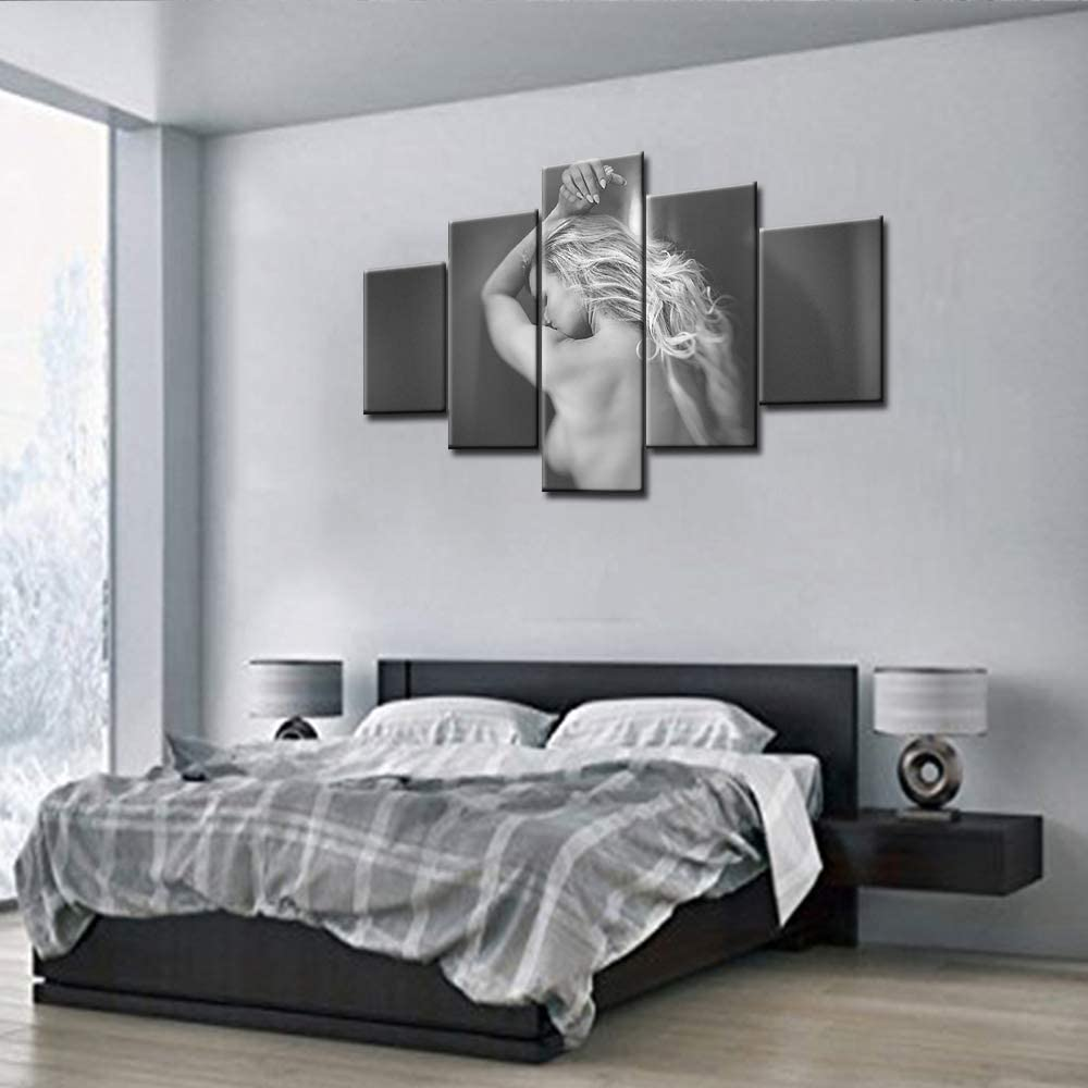 Artistic Artwork Picture Framed Print Beautiful Naked Woman Black /& White