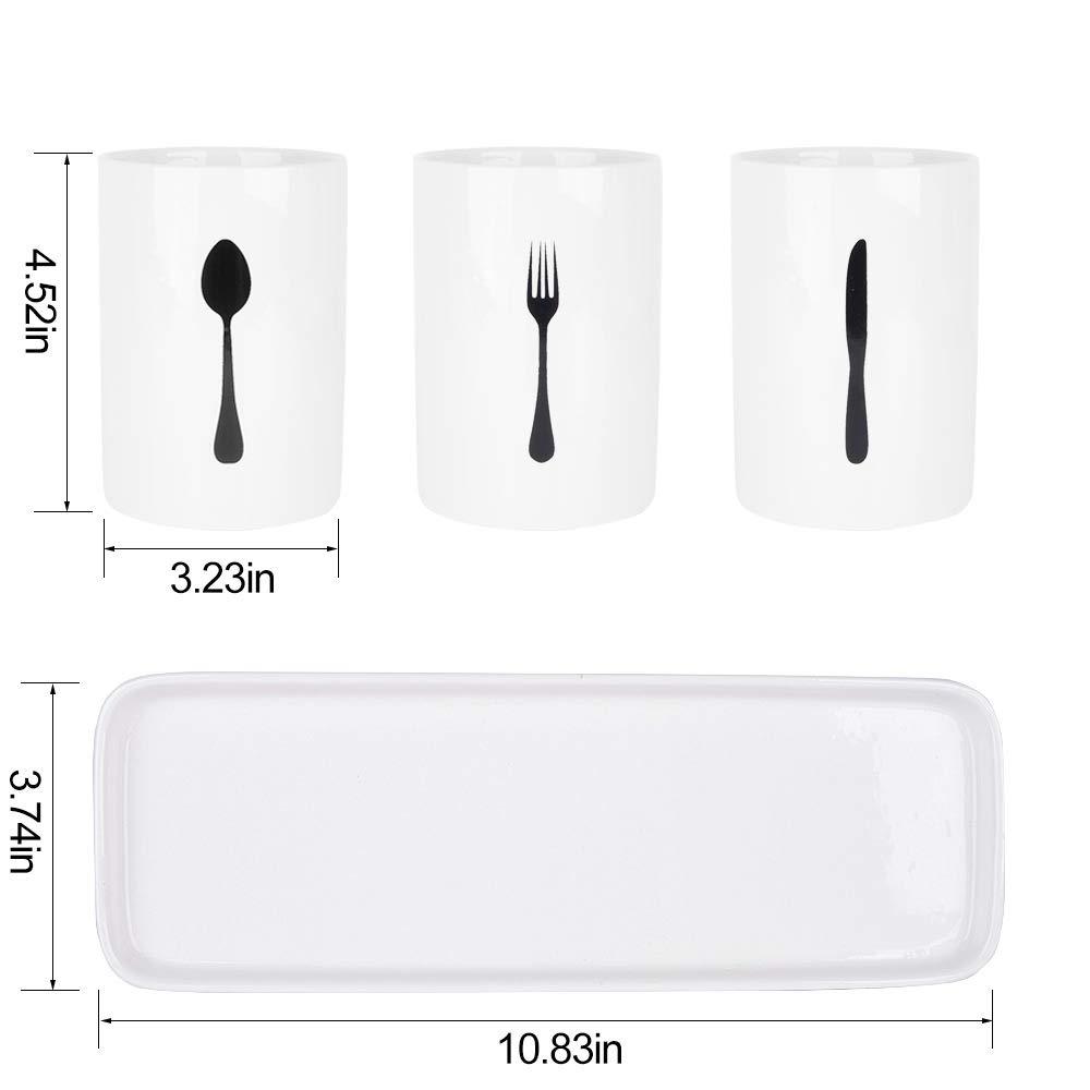 Amazon.com: SZUAH - Soporte para utensilios de cocina, acero ...