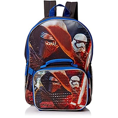 68802227f3e6 Backpack - Star Wars Ep7 - 16 Kylo Ren w/Lunch Bag New SW16B durable ...