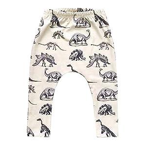 ♥Nation Kid Boy Dinosaurs Print Elasticity Long Pants