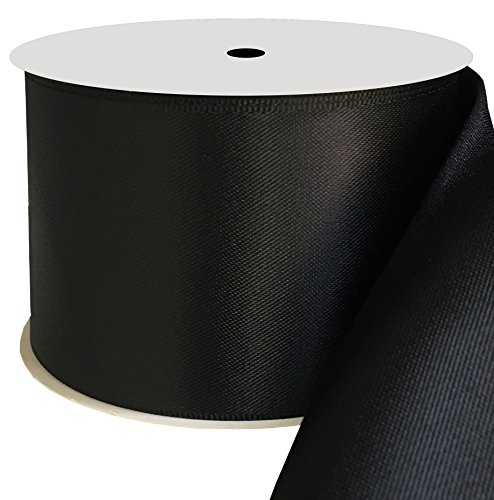 Duoqu 2 inch Wide Double Face Satin Ribbon 10 Yards Black
