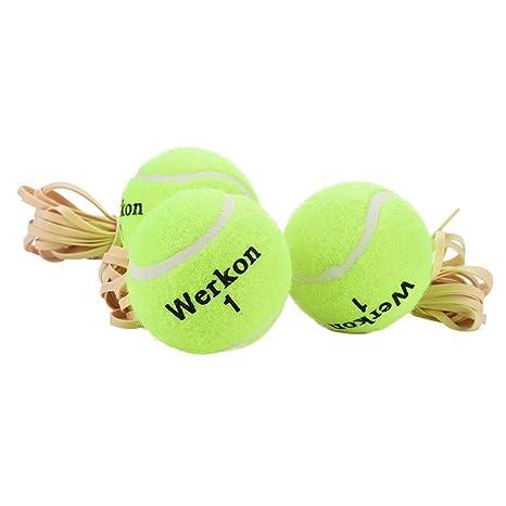 STRIR 3pcs Formación Pelota de tenis Principiante Tenis con Cuerda ...