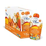 Plum Organics Stage 2, Organic Baby Food, Mango, Sweet Potato, Apple and Millet, 3.5 ounce pouch (Pack of 12)
