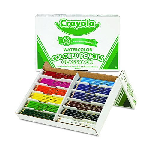 Crayola 240 Ct Watercolor Classpack, 12 Assorted Colors (68-4240)