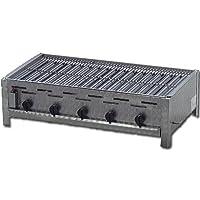Tischbräter 5-flammig 4+1 Gas Brenner kleiner silber Tableroaster ✔ eckig ✔ Grillen mit Gas