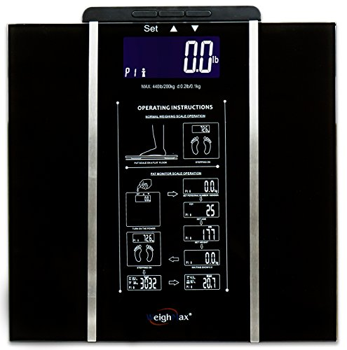 WEIGHMAX W-BY440 Bodywatch Series Digital Body Fat Scale with Step-On Technology (Scale Digital Series)