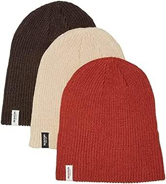 Burton Snowboards Men's DND Beanie 3 Pack Hat, Black/Coffee/Bitters/Pebble, One Size