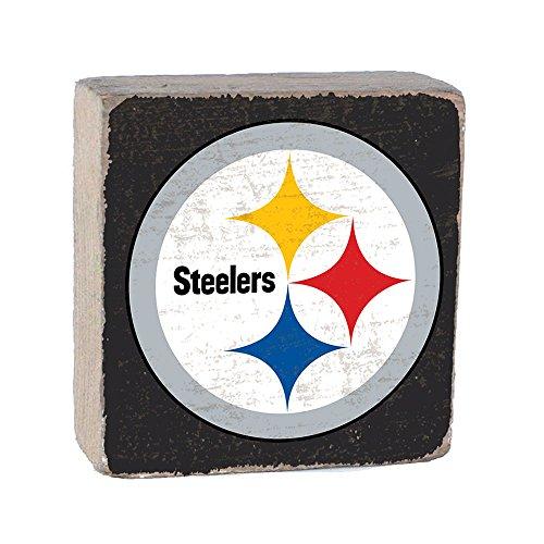 (NFL Pittsburgh Steelers, Team Color Background Team Logo Block by Rustic Marlin 6